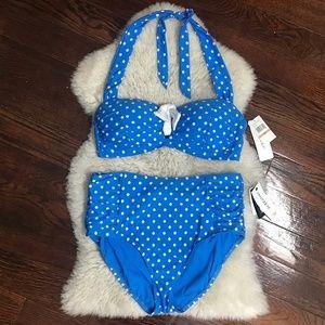 Jantzen Bikini Set Polka Dot Swimsuit High Waisted